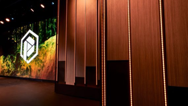 Scenic elements like this brought the church lighting system at Prestonwood Baptist Youth Facility to higher levels.