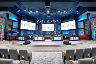 Audio video systems like this one for the Village Baptist Church provide an incredible experience.